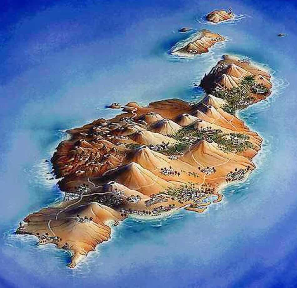 Mapa volcanes Lanzarote