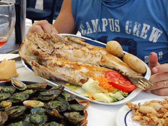 comida del restaurant mar azul