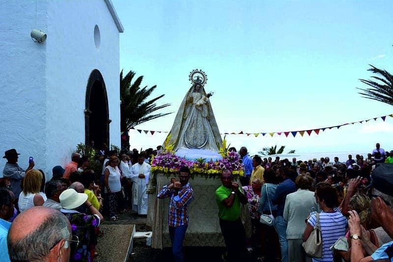 celebracion de la Virgen de las Nieves